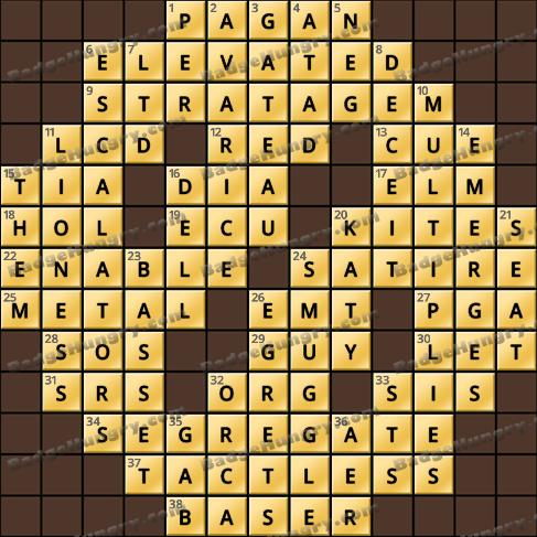 Crossword Cove HD Solution: September 17, 2020