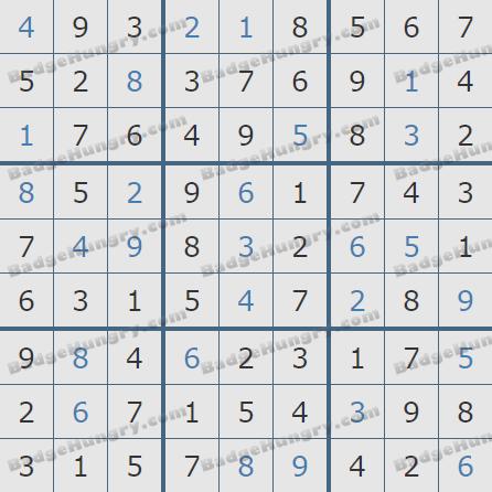Pogo Daily Sudoku Solutions: September 18, 2020