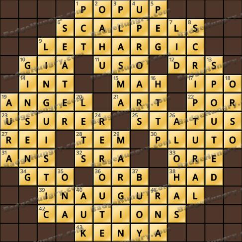 Crossword Cove HD Solution: September 18, 2020