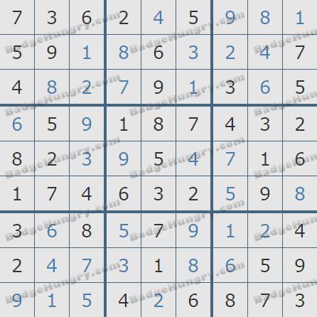 Pogo Daily Sudoku Solutions: September 20, 2020