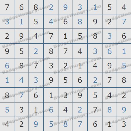Pogo Daily Sudoku Solutions: September 21, 2020