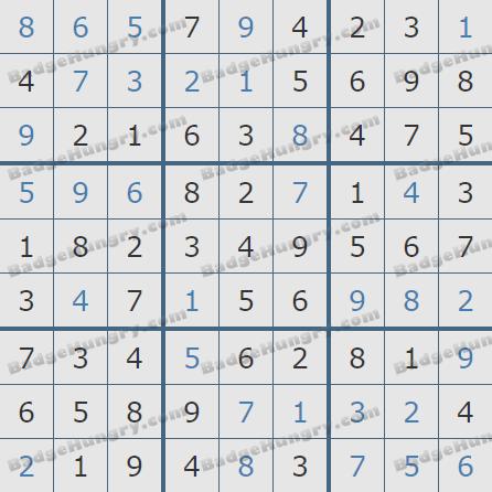 Pogo Daily Sudoku Solutions: September 23, 2020