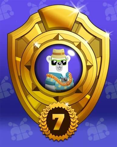 Bear Miles Badge Marathon Badge