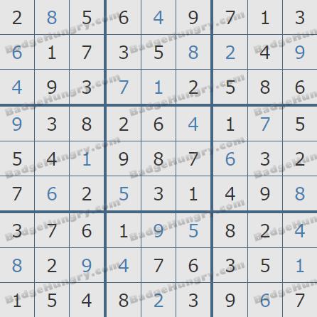 Pogo Daily Sudoku Solutions: September 25, 2020