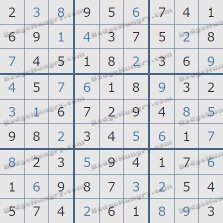 Pogo Daily Sudoku Solutions: September 26, 2020