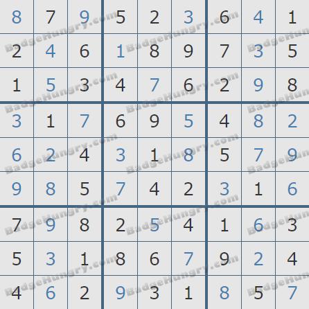 Pogo Daily Sudoku Solutions: September 27, 2020