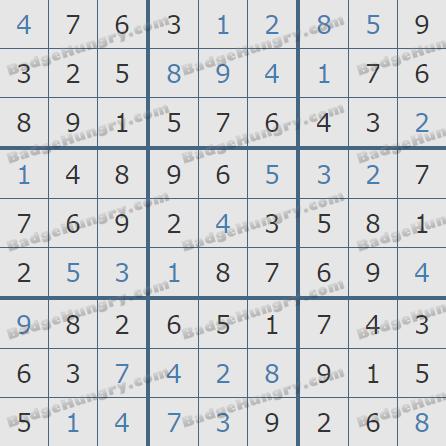 Pogo Daily Sudoku Solutions: September 30, 2020