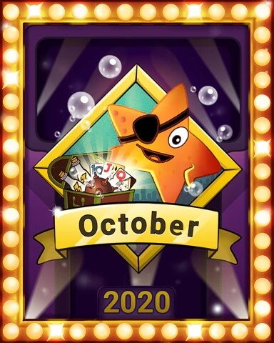 October 2020 Game of the Month Solitaire Blitz Badge