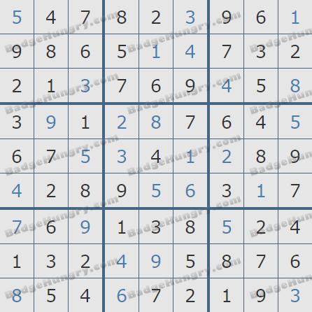 Pogo Daily Sudoku Solutions: October 8, 2020