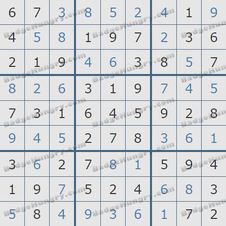 Pogo Daily Sudoku Solutions: October 10, 2020