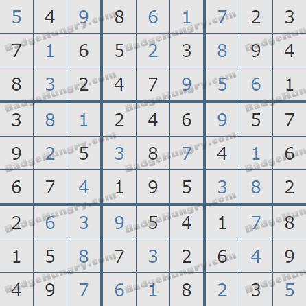Pogo Daily Sudoku Solutions: October 11, 2020