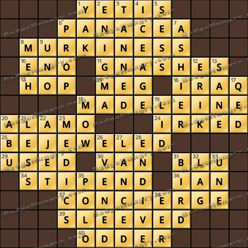 Crossword Cove HD Solution: October 12, 2020