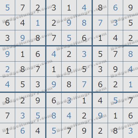 Pogo Daily Sudoku Solutions: October 13, 2020