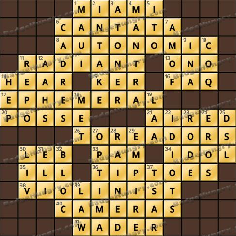 Crossword Cove HD Solution: October 15, 2020