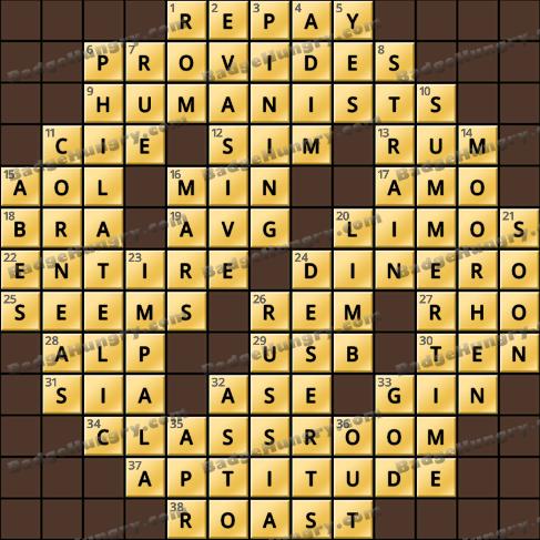 Crossword Cove HD Solution: October 19, 2020