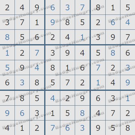 Pogo Daily Sudoku Solutions: October 23, 2020