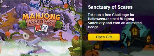 Free Gift: Mahjong Sanctuary Halloween Animated Badge