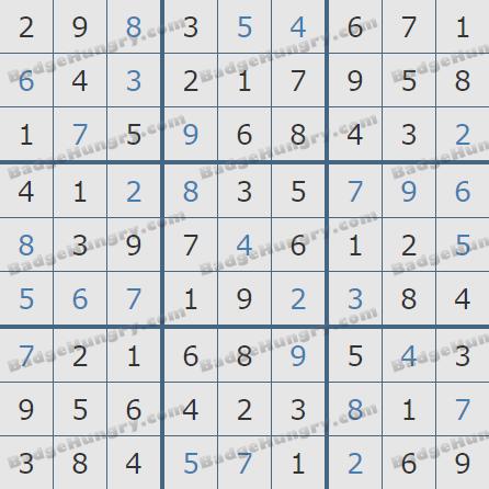 Pogo Daily Sudoku Solutions: October 28, 2020
