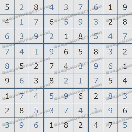 Pogo Daily Sudoku Solutions: October 29, 2020
