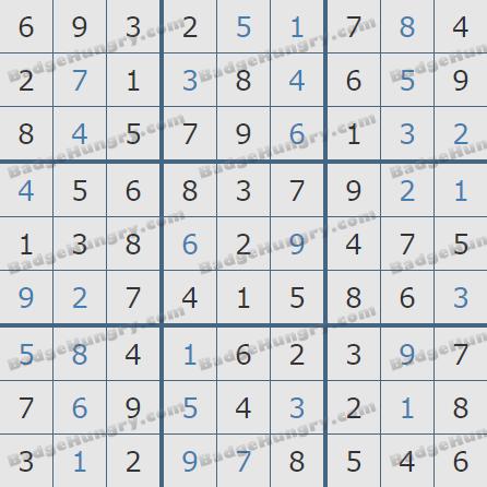 Pogo Daily Sudoku Solutions: October 30, 2020