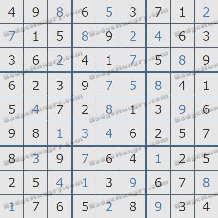 Pogo Daily Sudoku Solutions: November 1, 2020