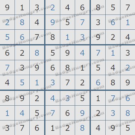 Pogo Daily Sudoku Solutions: November 3, 2020