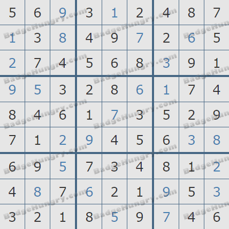 Pogo Daily Sudoku Solutions: November 6, 2020