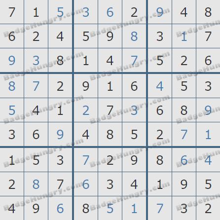 Pogo Daily Sudoku Solutions: November 8, 2020