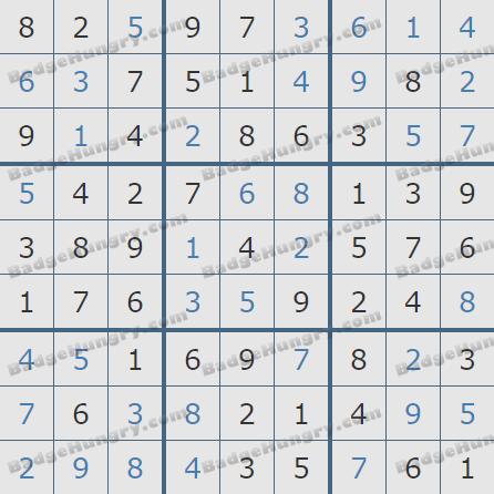 Pogo Daily Sudoku Solutions: November 11, 2020