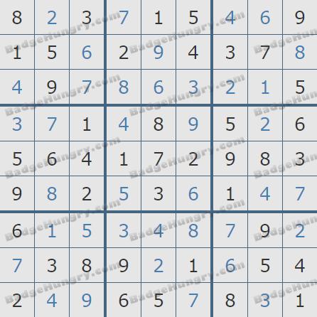 Pogo Daily Sudoku Solutions: November 13, 2020