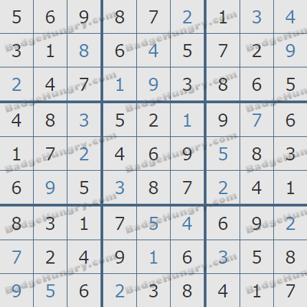 Pogo Daily Sudoku Solutions: November 15, 2020