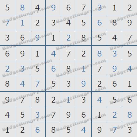 Pogo Daily Sudoku Solutions: November 19, 2020