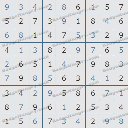 Pogo Daily Sudoku Solutions: November 20, 2020