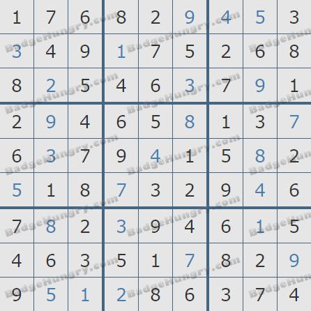 Pogo Daily Sudoku Solutions: November 21, 2020