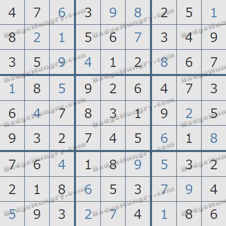 Pogo Daily Sudoku Solutions: November 25, 2020