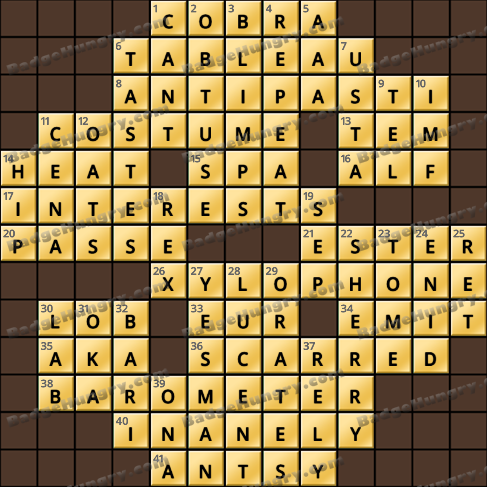 Crossword Cove HD Solution: November 25, 2020