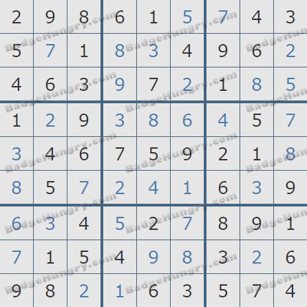 Pogo Daily Sudoku Solutions: November 27, 2020