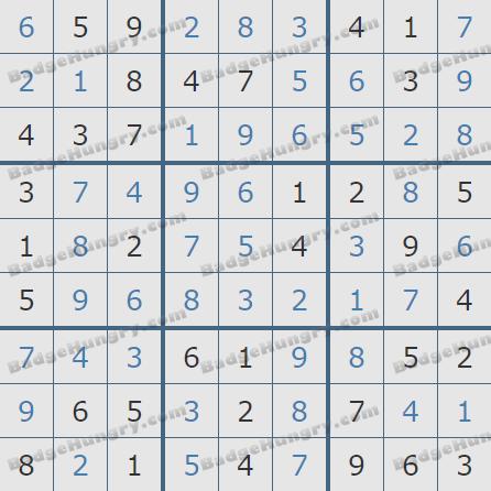 Pogo Daily Sudoku Solutions: November 30, 2020