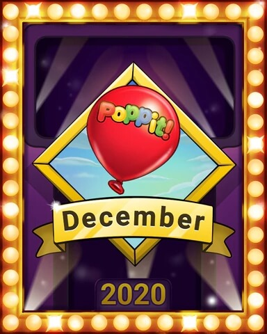 December 2020 Game of the Month Poppit! HD Badge