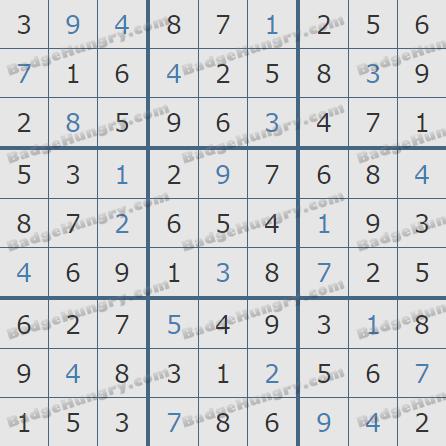Pogo Daily Sudoku Solutions: December 1, 2020