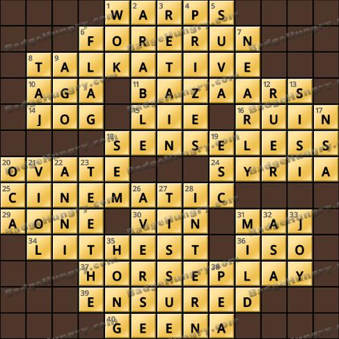 Crossword Cove HD Solution: December 1, 2020