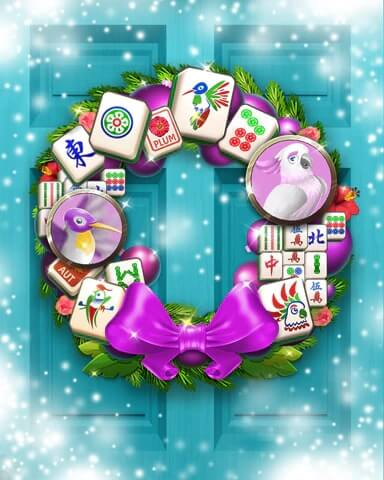 Mahjong Sanctuary  Holiday Wreath Badge