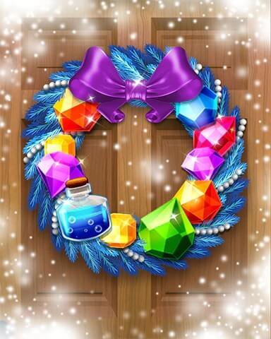 Jewel Academy Holiday Wreath Badge