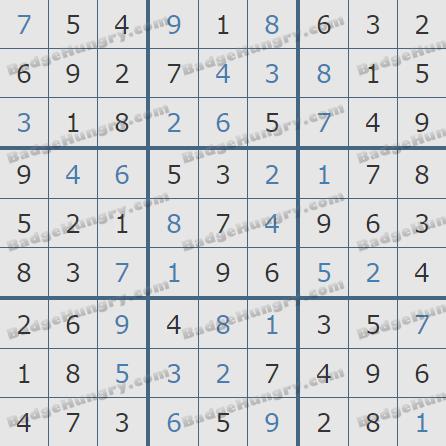 Pogo Daily Sudoku Solutions: December 5, 2020