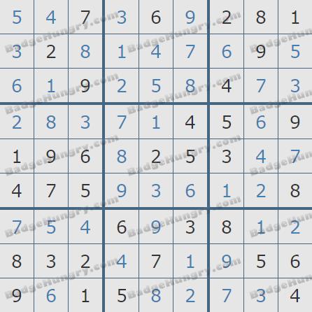 Pogo Daily Sudoku Solutions: December 7, 2020