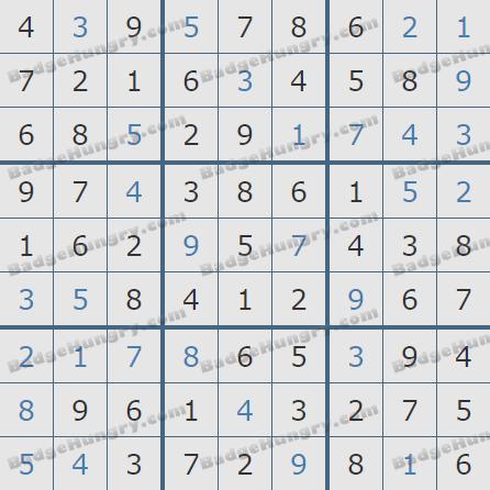 Pogo Daily Sudoku Solutions: December 9, 2020