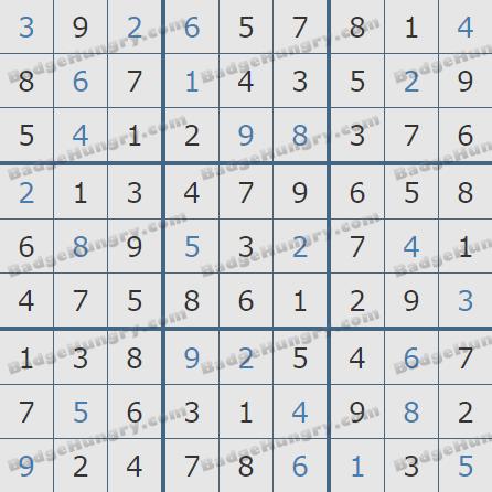 Pogo Daily Sudoku Solutions: December 11, 2020