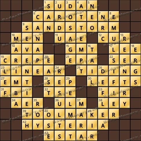 Crossword Cove HD Solution: December 11, 2020