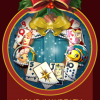 Solitaire Blitz Holiday Wreath Badge