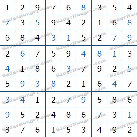 Pogo Daily Sudoku Solutions: December 22, 2020